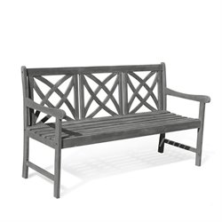 Vifah Renaissance Outdoor Bench in Natural