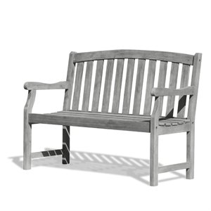 Outdoor Bench in Grey