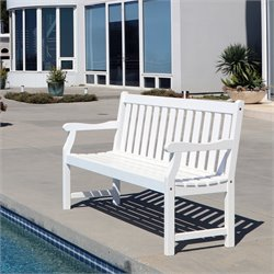 Bradley Outdoor Bench in White