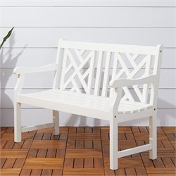 Outdoor Bench in White