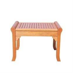 Vifah Malibu Outdoor Backless Chair in Natural