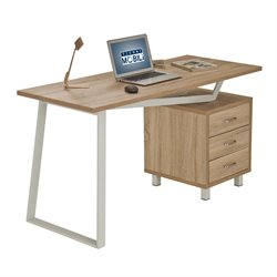 Techni Mobili Modern Design Computer Desk with Storage in Sand