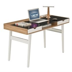 Techni Mobili Compact Computer Desk in Walnut