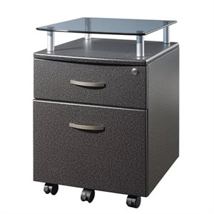 Techni Mobili Seguro 2 Drawer Wood Mobile Filing Cabinet in Graphite