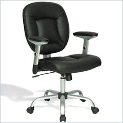 Techni Mobili Upholstered Deluxe Task Chair in Black