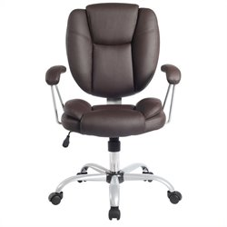 TECHNI MOBILI 0930 Ergonomic Task Office Chair in Chocolate