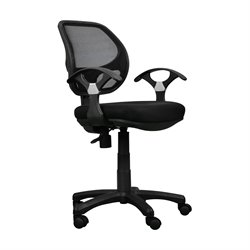 Techni Mobili Mesh Office Chair in Black
