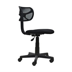Techni Mobili Mesh Task Chair in Black