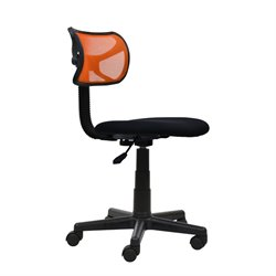 Techni Mobili Mesh Task Office Chair in Orange