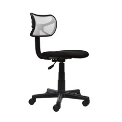 Techni Mobili Mesh Task Chair in White