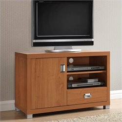 Techni Mobili TV Stand with Drawer in Maple Finish