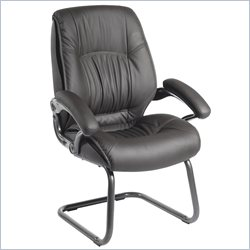 Techni Mobili Upholstered Executive High Back Visitor Guest Chair in Black