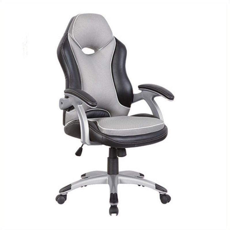 racer high back office chair in black and grey rta 3203