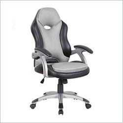 Techni Mobili Racer Series High Back Office Chair in Black and Grey