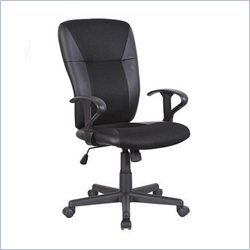 Techni Mobili Medium Back Assistant Chair in Black