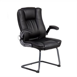 Techni Mobili Medium Back Manager Visitor Office Chair in Black