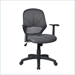 Techni Mobili Modern Mesh Task Chair in Grey