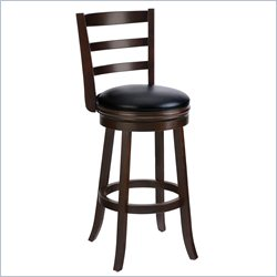 Techni Mobili Wooden Designer Swivel Bar Stool in Brown