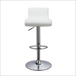 Techni Mobili Swivel Adjustable Bar Stool in White and Lime