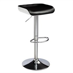 Techni Mobili Adjustable Bar Stool in Black and White