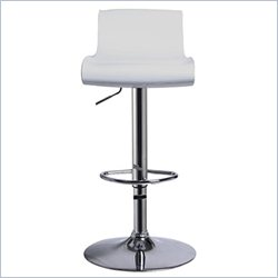 Techni Mobili Swivel Adjustable ABS and Bar Stool in Chrome