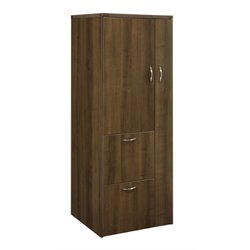 DMi Fairplex 2 Door Storage Cabinet in Walnut