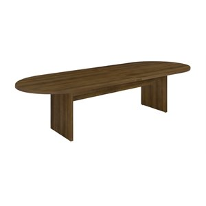 Race Track Expandable Conference Table in Walnut