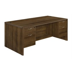 Executive Desk in Walnut (2)