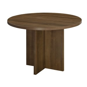 Round Conference Table in Walnut