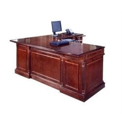 DMi Keswick Right Executive 66 in. Width L-Desk - Wood & Veneer