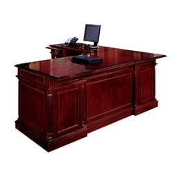 DMi Keswick Left Executive 66 in. Width L-Desk - Wood & Veneer