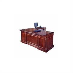DMi Keswick Right Executive 72 in. Width L-Desk - Wood & Veneer