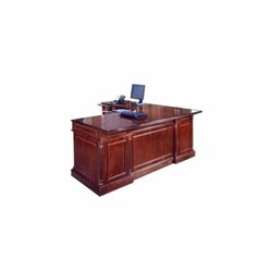 DMi Keswick Left Executive 72 in. Width L-Desk - Wood & Veneer