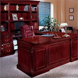 DMi Keswick Left Executive U-Desk - Wood & Veneer
