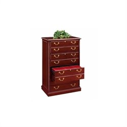 DMi Keswick 4 Drawer Lateral Wood File in English Cherry - Wood & Veneer