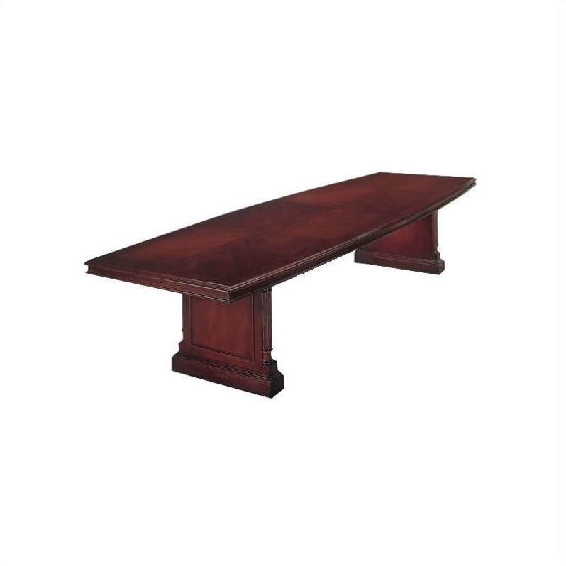 Flexsteel Keswick Boat Shaped 10' Conference Table in Cherry