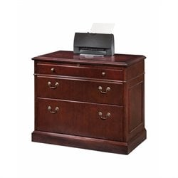 DMi Oxmoor 2 Drawer Lateral Wood File in Merlot Cherry