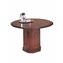 DMi Oxmoor Round 3.5' Conference Table with Column Base in Merlot Cherry