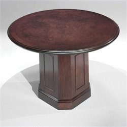 DMi Oxmoor Round 4' Conference Table with Column Base in Merlot Cherry