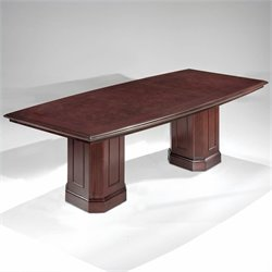 DMi Oxmoor Boat Shaped 8' Conference Table with Column Base in Cherry