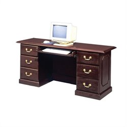 DMi Governors Kneehole Wood Credenza in Mahogany
