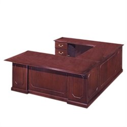 DMi Governors Executive 107 in. Deep U-Desk - Right U-Desk