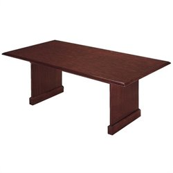 DMi Governors Rectangular 10' Conference Table with Slab Base in Mahogany