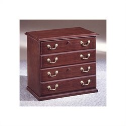 DMi Andover 2 Drawer Lateral Wood File Cabinet in Mahogany