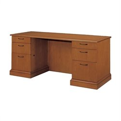DMi Belmont Wood Credenza with Full Return - Executive Cherry