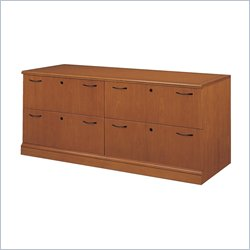 DMi Belmont 4 Drawer Lateral Wood  File Credenza - Sunset Cherry