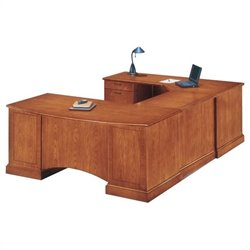 DMi Belmont Left Executive Corner U-Shaped Desk - Executive Cherry
