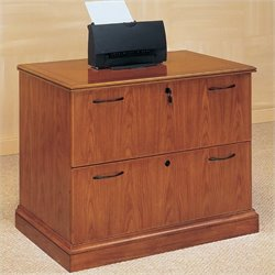 DMi Belmont 2 Drawer Lateral Wood Letter/Legal File Cabinet - Executive Cherry