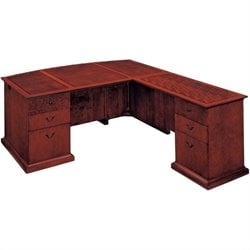 DMi Del Mar Executive Bow Front L-Shaped Desk - Right L-Desk