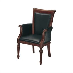 DMi Del Mar High Back Guest Chair in Black Leather